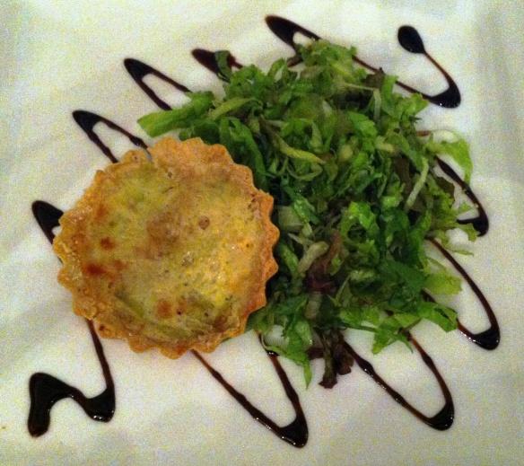 O Conde - Entrada:  Quiche de alho poro - Restaurant Week