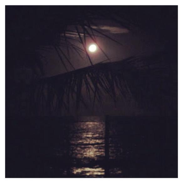 Nascer da lua em Caraíva