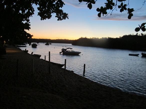 Por do sol - Rio de Caraíva