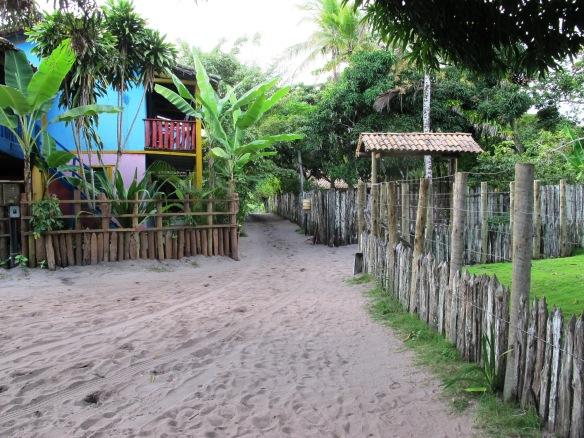 Rua de areia em Caraíva